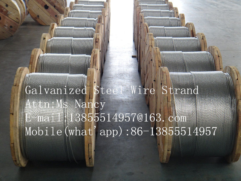 6.6M Galvanized Strand Messenger Wire on a continuous wooden reel with 5000ft