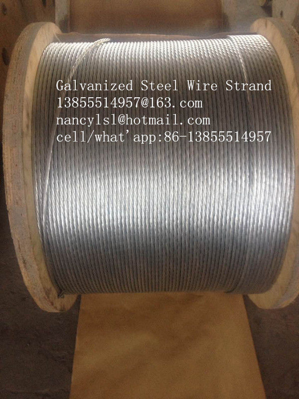 Durable Zinc Coated Galvanized Steel Wire Cable For ACSR Conductor , Highways