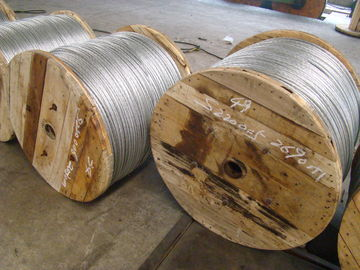 High Voltage Transmission Lines Galvanized Wire Cable Increase The Tensile Force